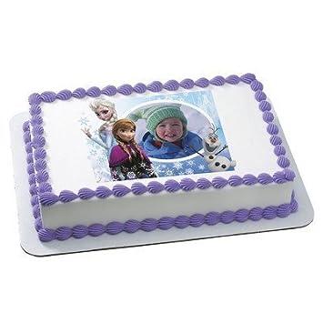 Amazoncom Disneys Frozen with Customer Photo Edible Image Cake