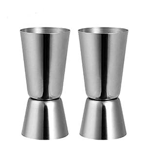 Jigger - Misurino doppio per alcolici a forma di barretta, in acciaio inox, 25/50 ml 5 spesavip
