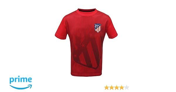 Junior Boys Atletico Madrid Official Soccer Club Crew Neck Short Sleeve Jersey T Shirt Top
