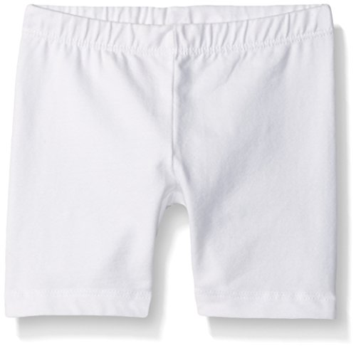 Gymboree Baby Toddler Girls' Easy Little Spring Bike Shorts, White, 2T