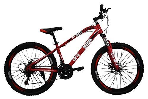 Monk Bicicleta de montaña INXSS Rodada 26 Shimano 21 Velocidades (Rojo)