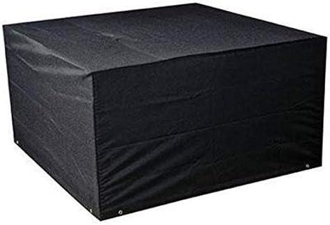 Luayy Tisch und Stuhl Möbel Staub Set, Schwarz Rattan Outdoor Starke Regenschutz Cube Schonbezug (Size : 242×162×100cm)