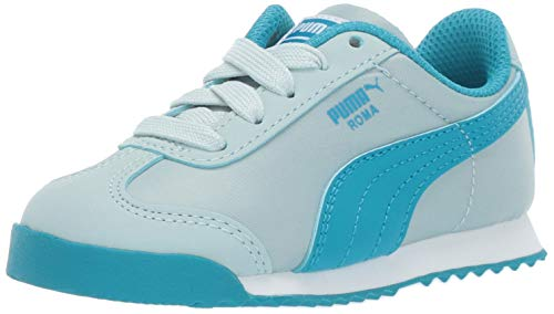 (PUMA Unisex Roma Basic Sneaker light sky-caribbean sea 3.5 M US Big)