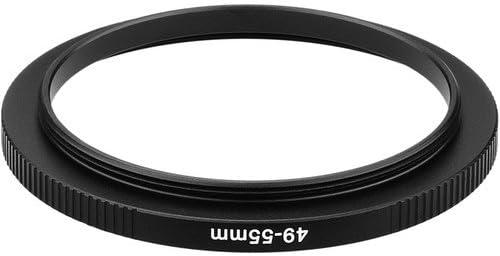 4 Pack Sensei PRO 49mm Lens to 55mm Filter Aluminum Step-Up Ring
