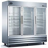 SABA ST72RG Three Glass Door Refrigerator