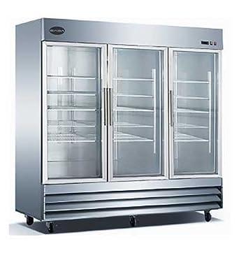 Amazon Saba St72rg Three Glass Door Refrigerator Appliances