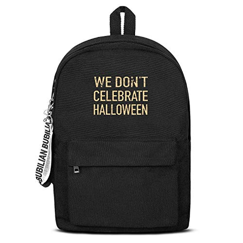 WJINX We Don't Celebrate Halloween Print Canvas Backpack