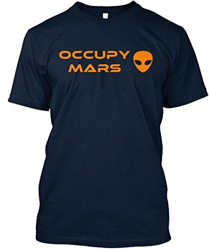 Occupy Mars Tshirt   M   New Navy   100  Combed Ringspun Cotton   Premium Tee