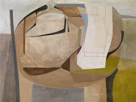 Oil Painting 'Hemisphere Oval By Ben Nicholson', 18 x 24 inch / 46 x 61 cm , on High Definition HD canvas prints is for Gifts And Bar, Dining Room - Coupons Card Factory Outlet