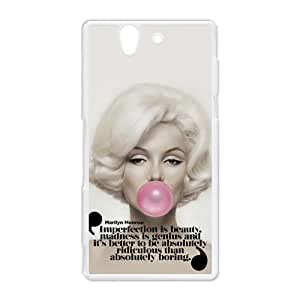 Sexy Zombie Marilyn Monroe Hard Protective Plastic Back Case Cover for Sony Xperia Z Perfect as Christmas gift(5)