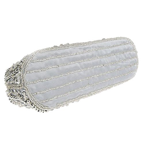 Satin Retro Wedding Party Evening Bead Women Purse Handbags EPLAZA Clutch Bags D Flora xtvpIzwq