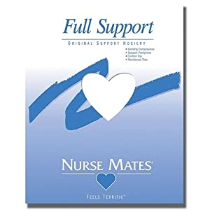 Women's Nurse Mates Support Socks WHITE D