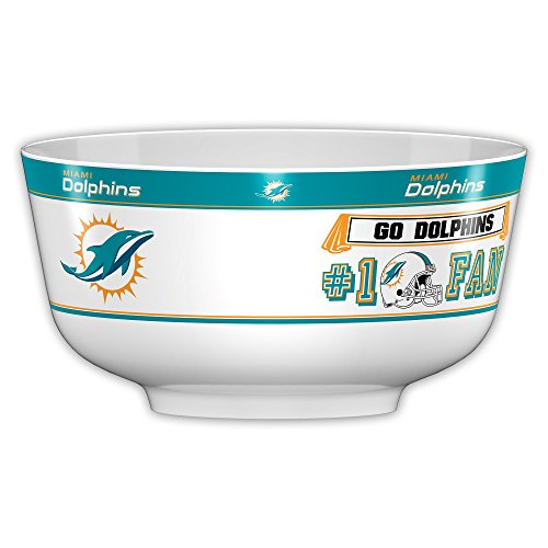 Fremont Die NFL Miami Dolphins Party Bowl, 14.5