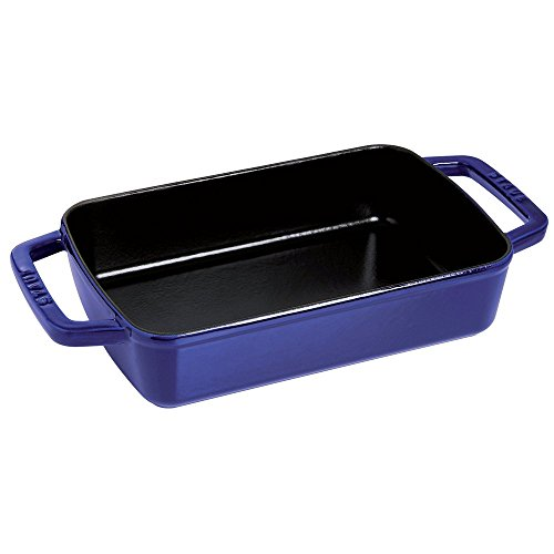 Staub Cast Iron 15 inch x 10 inch Roasting Pan - Dark Blue