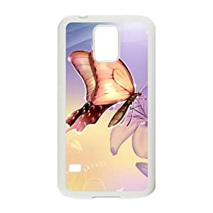 J-LV-F Customized Print Butterfly Hard Skin Case For Samsung Galaxy S5 I9600