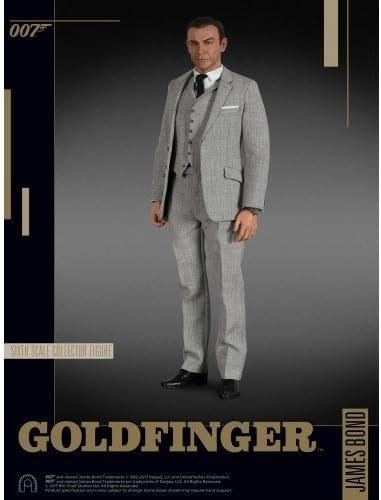 James Bond 007 Goldfinger Limited Edition Traje Gris Figura Figura ...
