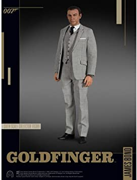 James Bond 007 Goldfinger Limited Edition Traje Gris Figura Figura ...