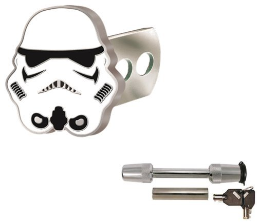 Star Wars Storm Trooper Solid Metal Brushed Chrome Hitch Plu