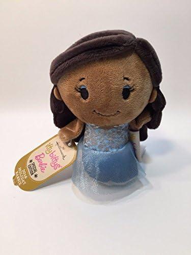 Hallmark Itty Bittys Plush KDD1094 Special Edition 2016 Holiday Barbie Dark Hair