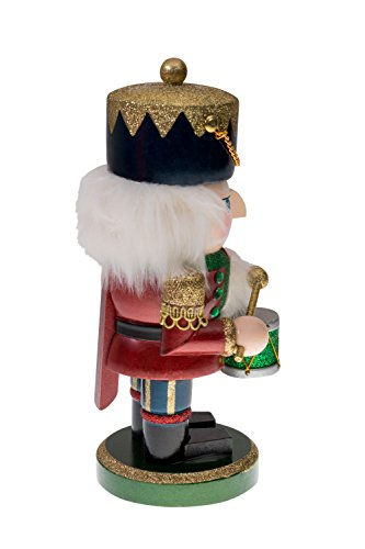 Red and Green Chubby Drummer Nutcracker by Clever Creations | Traditional Christmas Christmas Decor | 9'' Tall Perfect for Shelves and Tables | Must Have for Any Collection | 100% Wood by Clever Creations (Image #2)