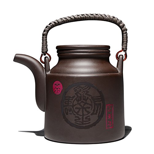 Funnytoday365 720Cc Purple Clay Tea Pot With Filter Large Ca