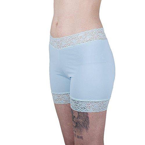 Biker Boxer Brief - Mint Underpants Lace Trimmed Biker Shorts Women's Boxer Briefs