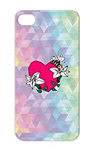Anti-scuff TPU For Iphone 5s Bee And Heart Hearts Love Pink Cover Case