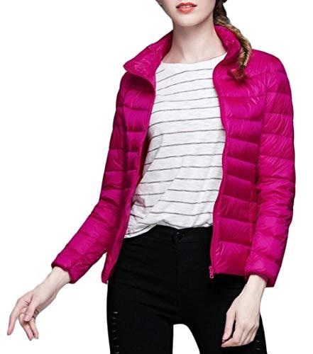 Giacca Leggera Rossa Rosa Ultra Packable Donne Puffer Ttyllmao Giù Delle wqtaU4U