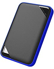 Silicon Power 1TB Rugged Game Drive Portable External Hard Drive HDD A62, Military-Grade Shockproof/IPX7 Waterproof, Compatible with PS4 Xbox One PC and Mac