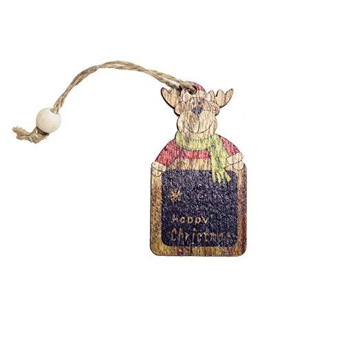 LLIND 3/6 Pcs Santa Christmas Tree Wood Sleigh Pendant Gift Home Door Hanging Decoration,Christmas Tree Wooden Decorations Pendant,Christmas Decor (3pcs Multicolor F) (Color : 3pcs Multicolor B) ()