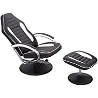 Mr Direct Recliner Chair With Footrest Racing Chair Armchair Relax Chair Sofa