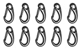 10 Pieces Stainless Steel 316 Spring Gate Snap Hook Clip 2'' Marine Grade Lobster Claw