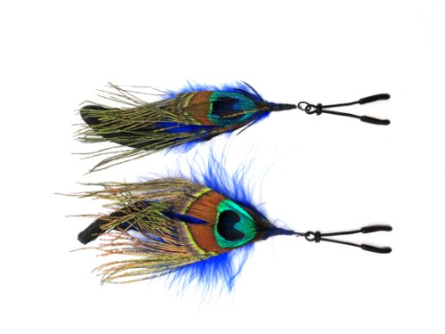 Bijoux-Sexy-Nipple-Clamps-Clips-with-Feather-Peacock-Peafowl-Nipplesuckers-for-Women-Breast-Decoration-for-Sex-Nippleless-Pasties-Adult-Gift-Toys-Metal-Blue-black-Nipplerings-Non-Piercing