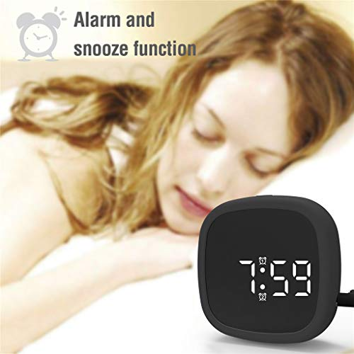 Matoen Digital Voice Control Alarm Clock LED Display Screen Battery Powered Rechargable Portable Pocket Silicone Desk Clock Indoor Outdoor Bedroom Travel - Classic Clock Alarm Pocket