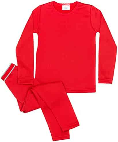 Rocky Girls Ultra Soft Fleece Lined Thermal 2PC Underwear Set Top and Bottom