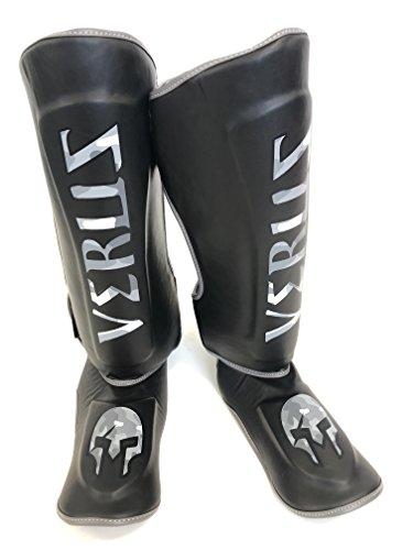 Verus Shin Instep Guard Kickboxing MMA Muay Thai Leg & Foot Protector Pads (Black/Camo, Small)