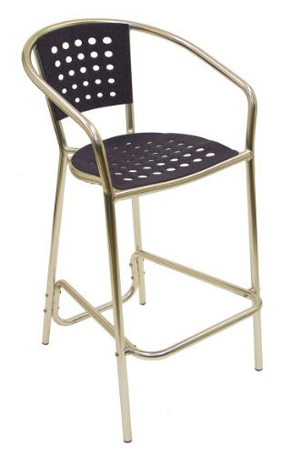 ATC South Beach Barstool with Anodized Welded Aluminum Frame, Blue