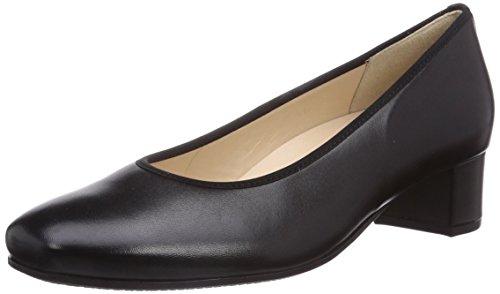 Hassia Verona, Weite H - zapatos de tacón cerrados de cuero mujer negro - Schwarz (0100 schwarz)