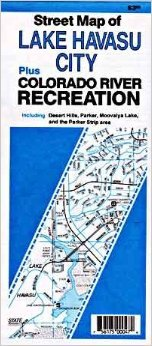 Street Map of Lake Havasu City Plus Colorado River Recreation Including Desert Hills, Parker, Moovalya Lake, and the Parker Strip ()