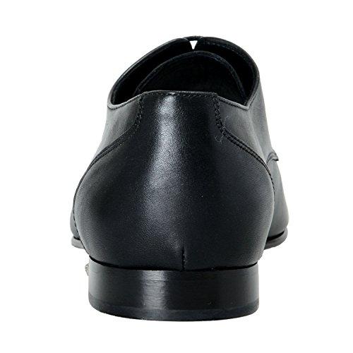 Versace Mens Black Leather Lace Up Oxfords Dress Shoes US 11 IT 44 RQVcw2