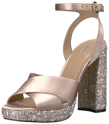 The Fix Womens Gabriela High Heel Cross Strap Platform Dress Sandal Blush Champagne Silver Ice 8 5 B Us