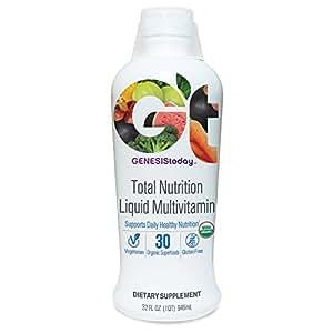 Genesis Today, Total Nutrition Liquid Multivitamin, 32 Ounce