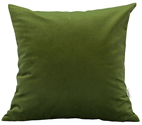 TangDepot Solid Velvet Throw Pillow Cover/Euro Sham/Cushion Sham, Super Luxury Soft Pillow Cases, Many Color & Size options - (28