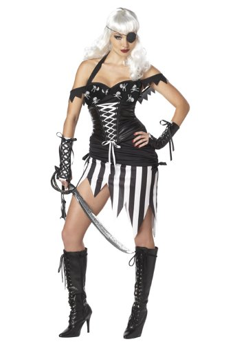 California Costumes Pirate Mistress Set, Black/White, - Mistress Pirate