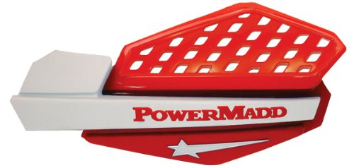 PowerMadd 34222 Star Series Handguard - Red/White