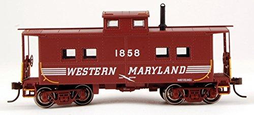 Bachmann Industries Western Maryland #1858 Northeast Steel Caboose (Speed Lettering) (HO Scale Train) (Western Maryland Ho Scale)