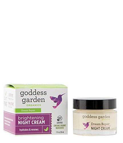 Care Skin Garden (Goddess Garden Organics Dream Repair Brightening Night Cream (1 oz. Jar) Certified Organic, Vegan, Leaping Bunny Certified Cruelty-Free, Paraben-Free, Gentle on Sensitive Skin, Certified B Corp)