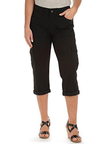 lee-womens-relaxed-fit-austyn-knit-waist-capri-pant-black-14