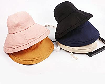 Hyunong Color Twine Cotton Visor Hat Ms. Summer Beach Sunscreen Collapsible Fisherman Hat