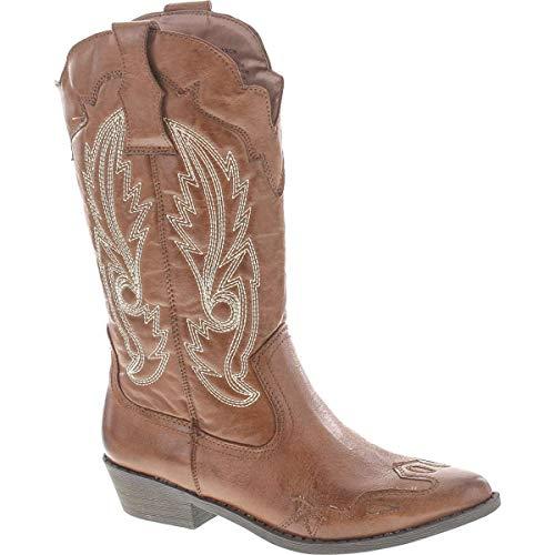 Matisse Brand Cimmaron Cowboy Western Boot,Brown/Brown,7.5